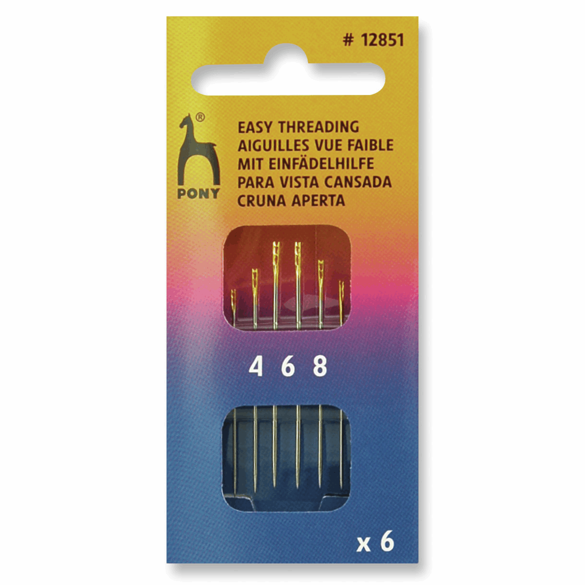 Picture of Hand Sewing Needles: Easy Thread: Gold Eye: Size 4-8
