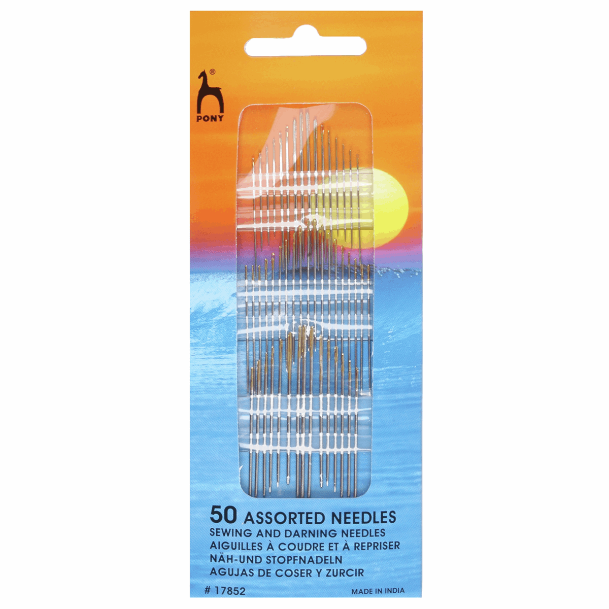 Picture of Hand Sewing Needles: Assorted: Gold Eye: Pack of 50