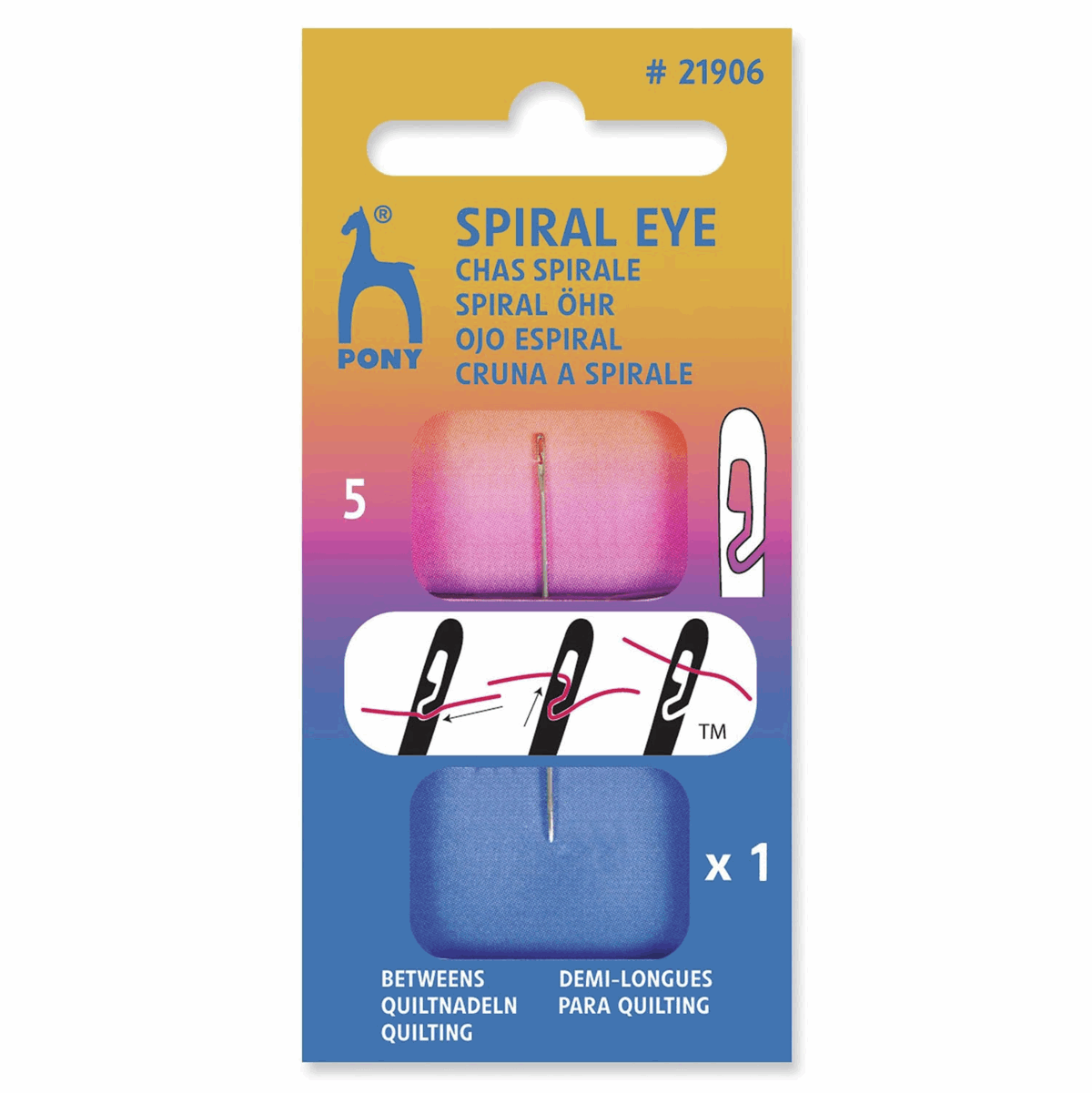 Picture of Hand Sewing Needles: Spiral Eye&#174: Betweens: 5mm