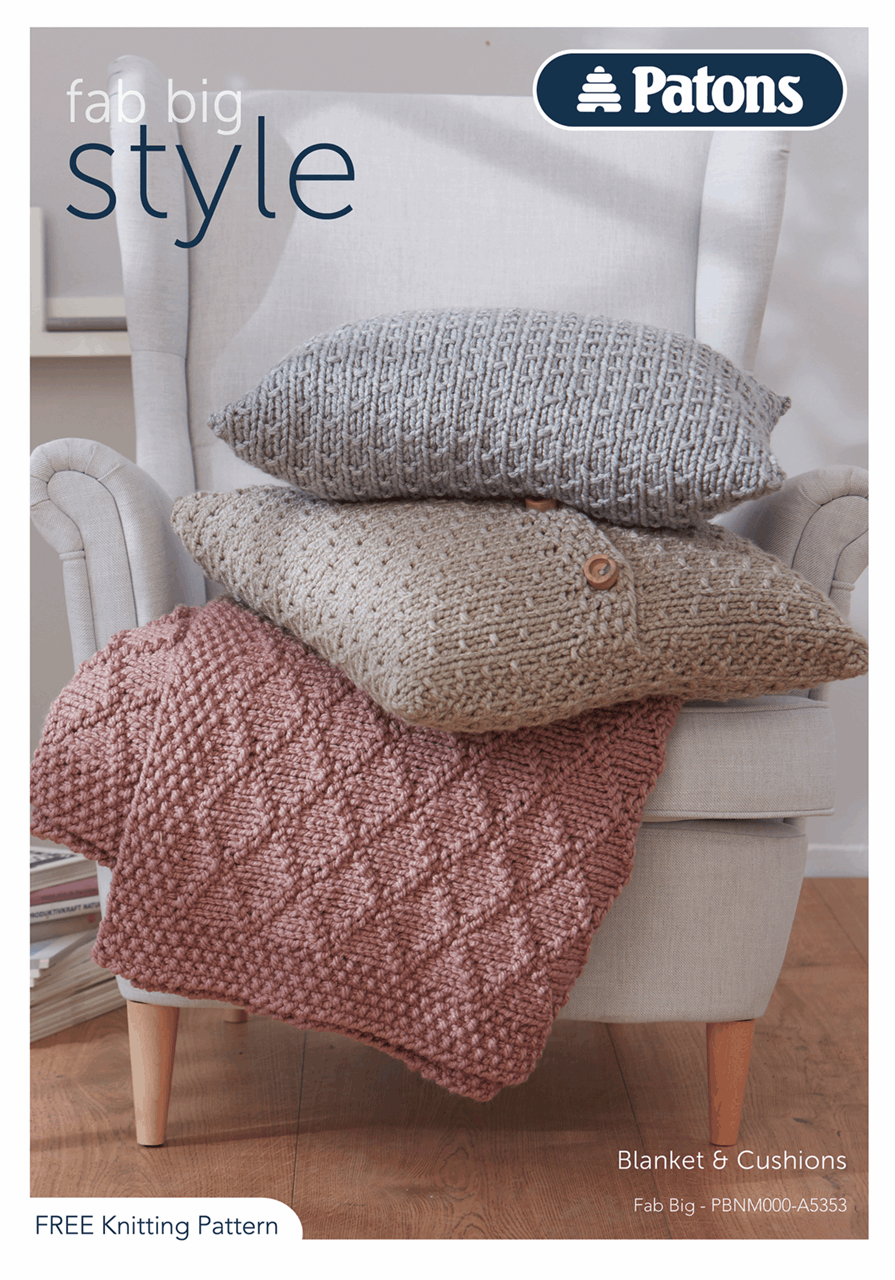 Picture of Patons Pattern Leaflet: Fab Big: Style 2 & 3: Homeware