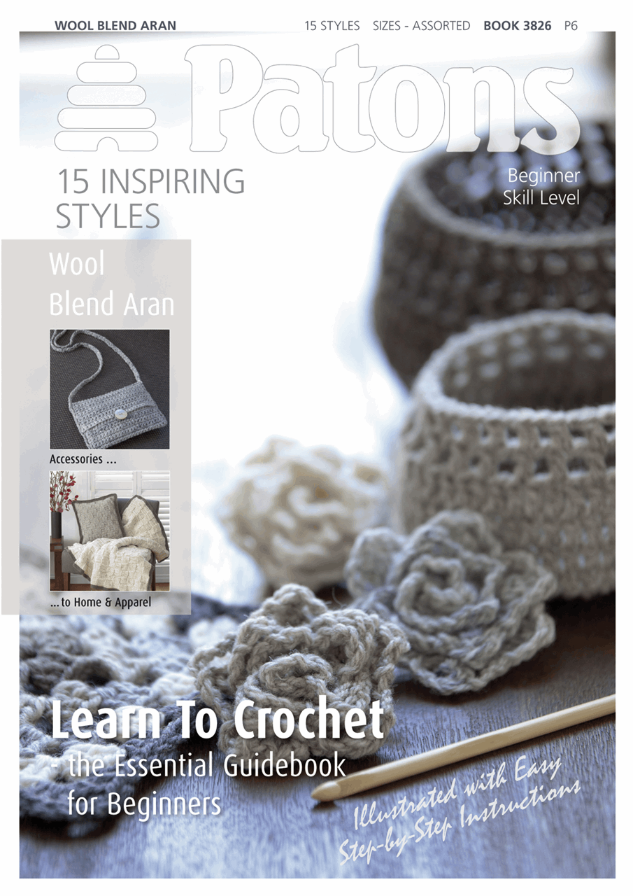 Picture of Patons Pattern Book: Wool Blend Aran: Learn Crochet