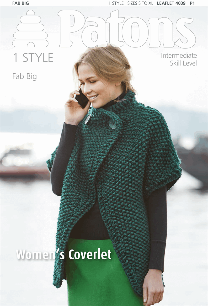Picture of Patons Pattern: Women's Coverlet