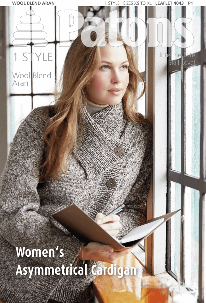 Picture of Patons Pattern: Women's Asymmetrical Cardigan