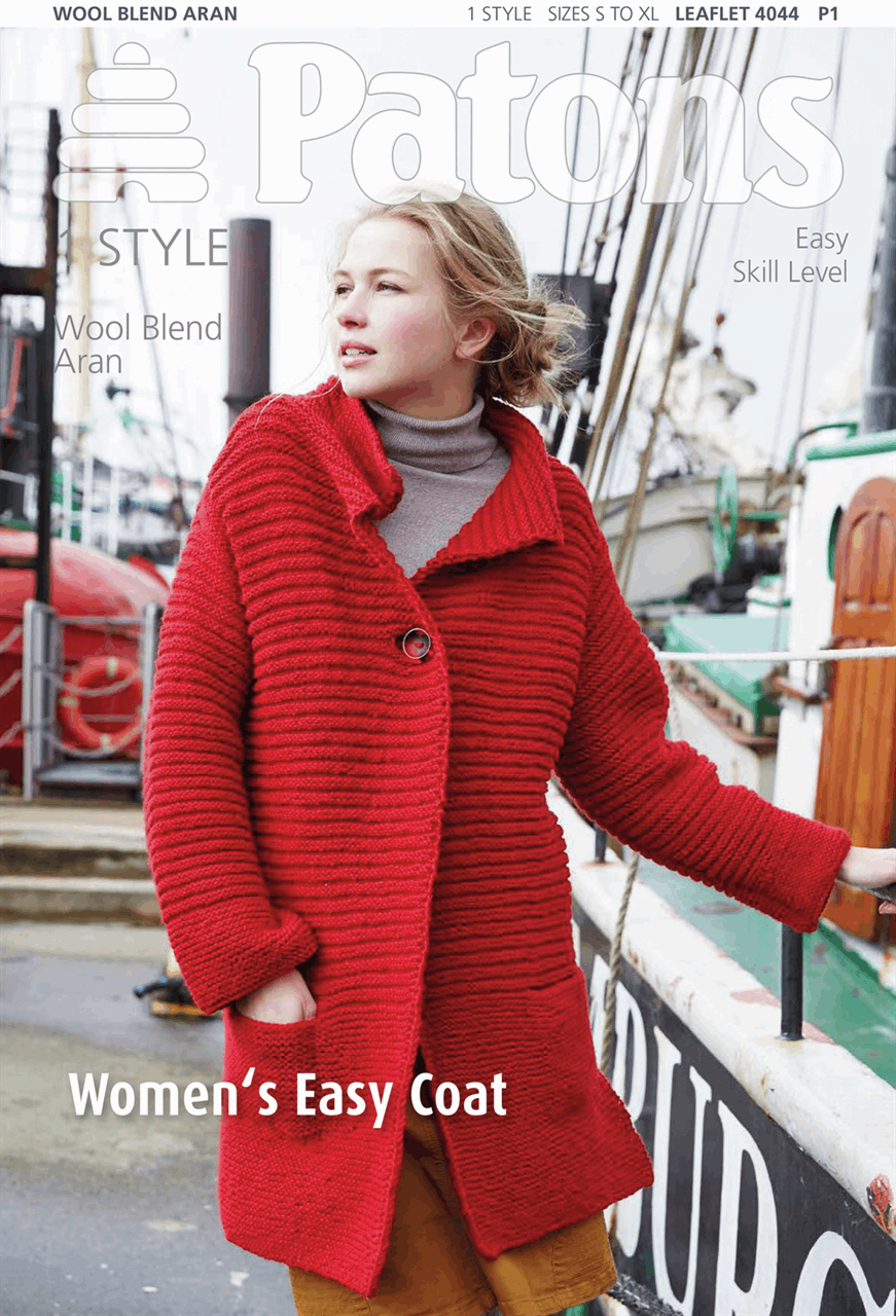 Picture of Patons Pattern: Women's Easy Coat