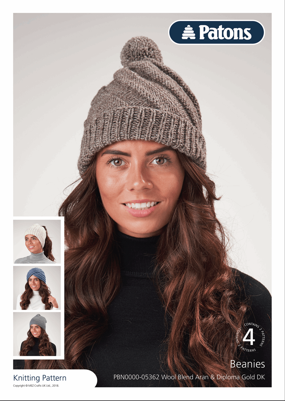 Picture of Patons Pattern Leaflet: Beanies