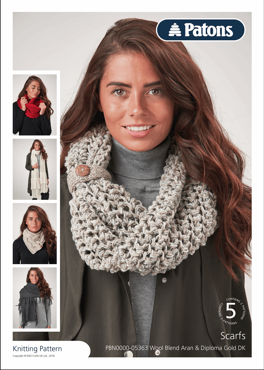 Picture of Patons Pattern Leaflet: Scarves, Shawls & Cowls