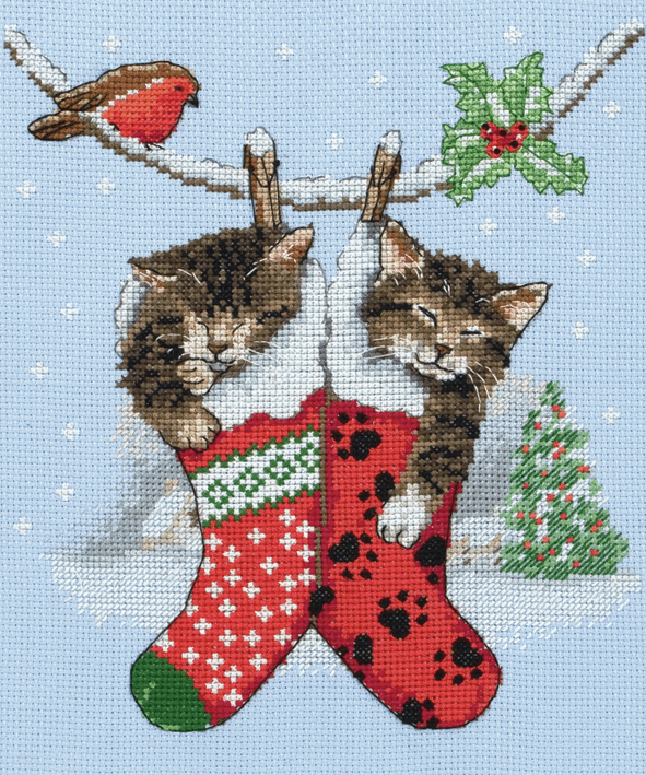 Picture of Cross Stitch Kit: Christmas Kittens