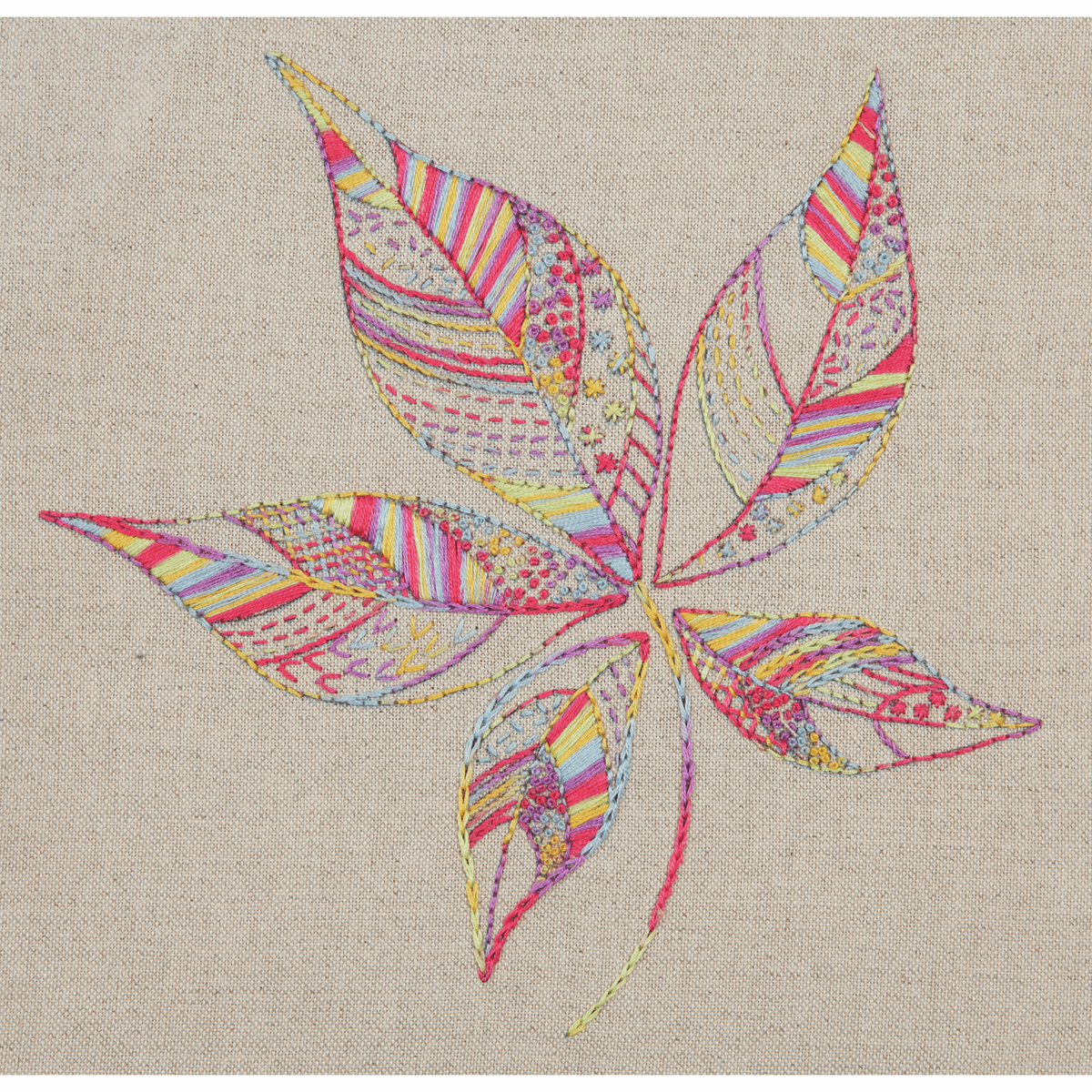 Picture of Embroidery Kit: Essentials: Stitch Sampler 2: Leaf