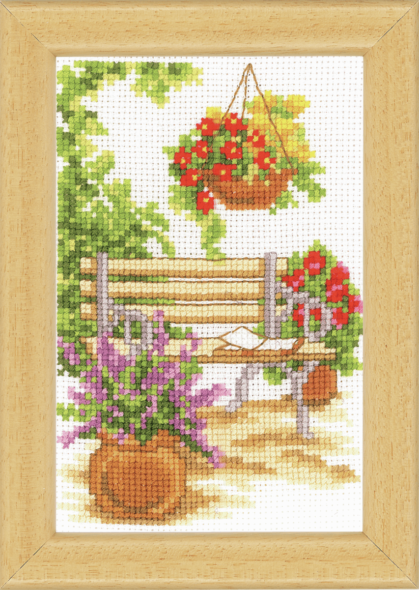 Picture of Counted Cross Stitch Kit: Sit In The Garden -1