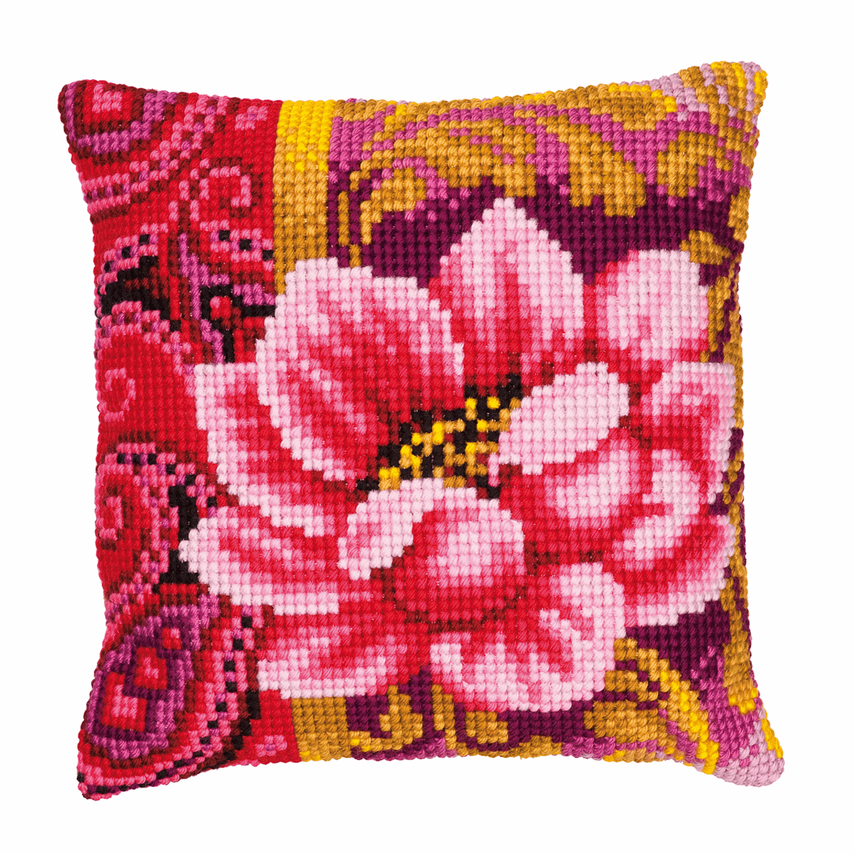 Picture of Cross Stitch Kit: Cushion: Pink Flower