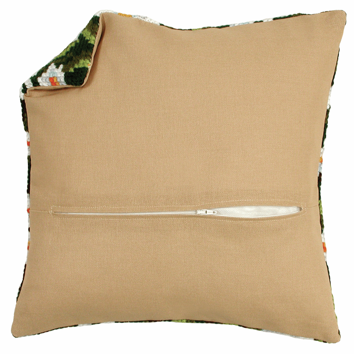 Picture of Cushion Back with Zipper: Natural: 45 x 45cm (18 x 18in)