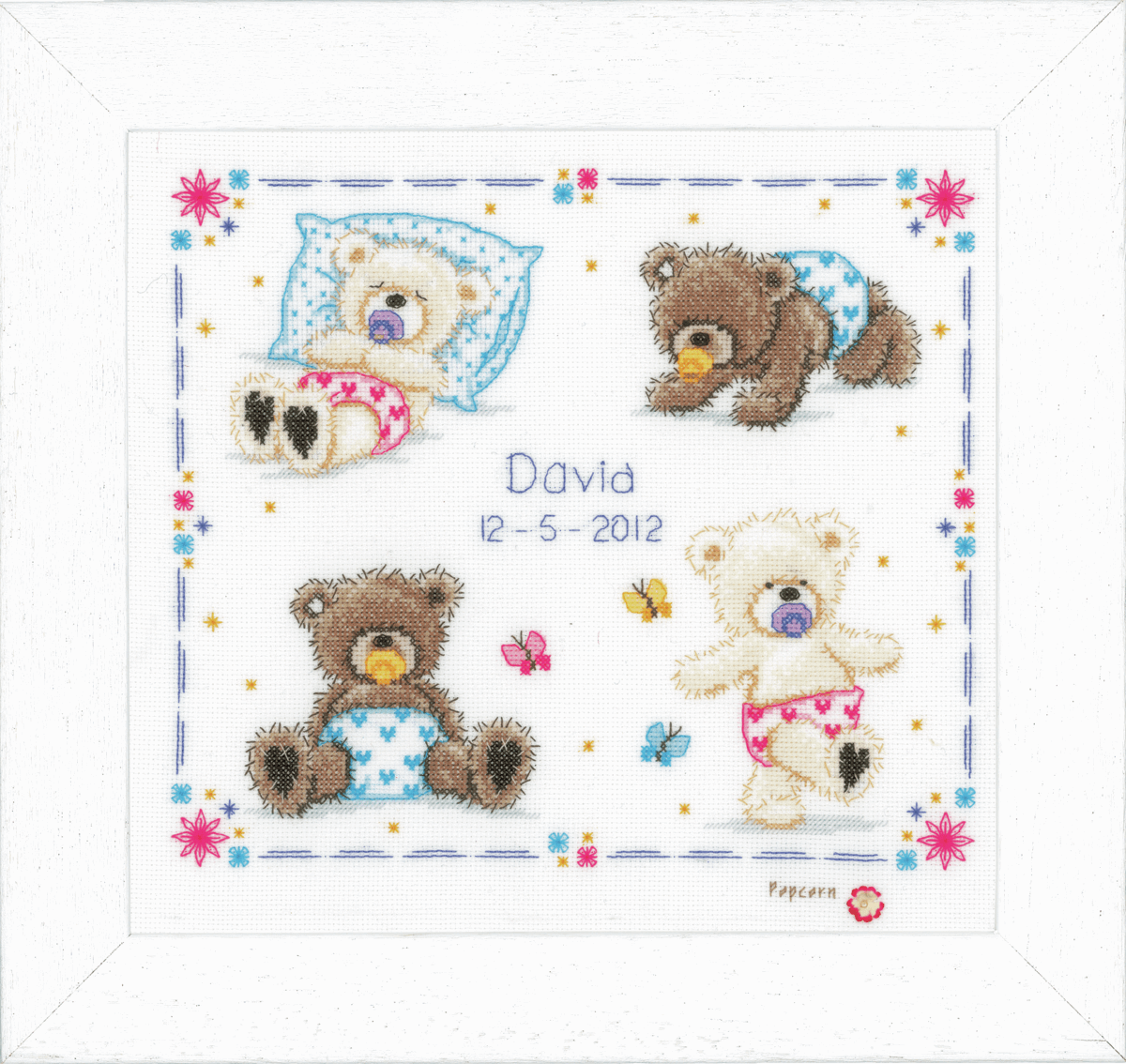 Picture of Popcorn: Counted Cross Stitch Kit: First Steps