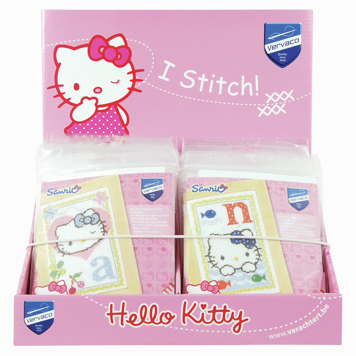 Picture of Counter Display Unit: Hello Kitty Counted Cross Stitch Alphabet Designs: 26 Kits