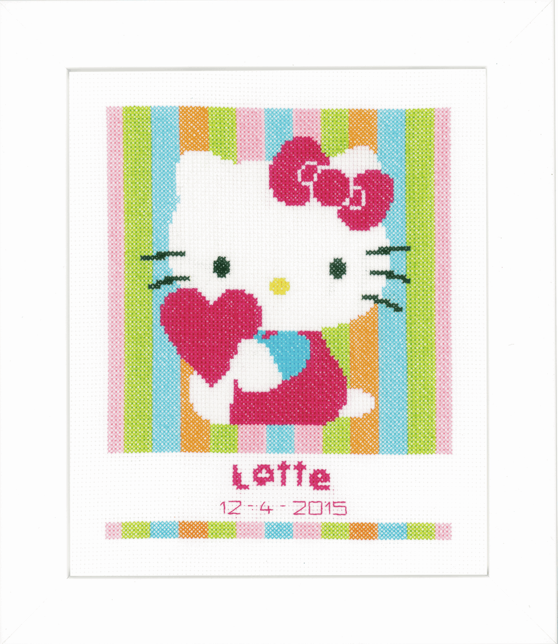 Picture of Counted Cross Stitch Kit: Hello Kitty Striped