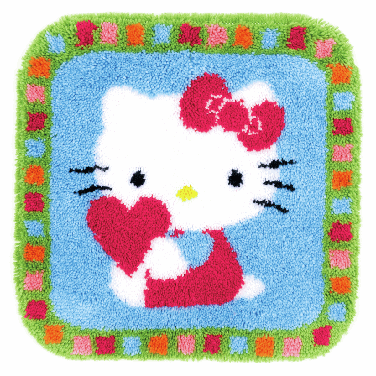 Picture of Latch Hook Kit: Rug: Hello Kitty: with a Heart