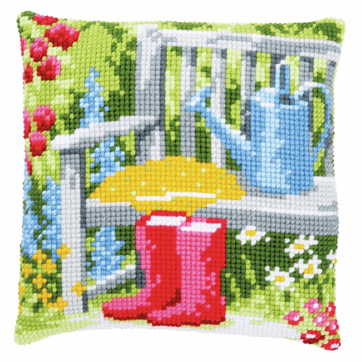 Picture of Cross Stitch Kit: Cushion: My Garden