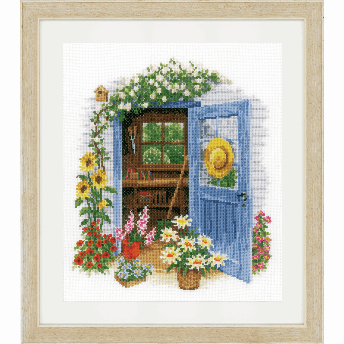 Picture of Counted Cross Stitch Kit: My Garden Shed (Aida)