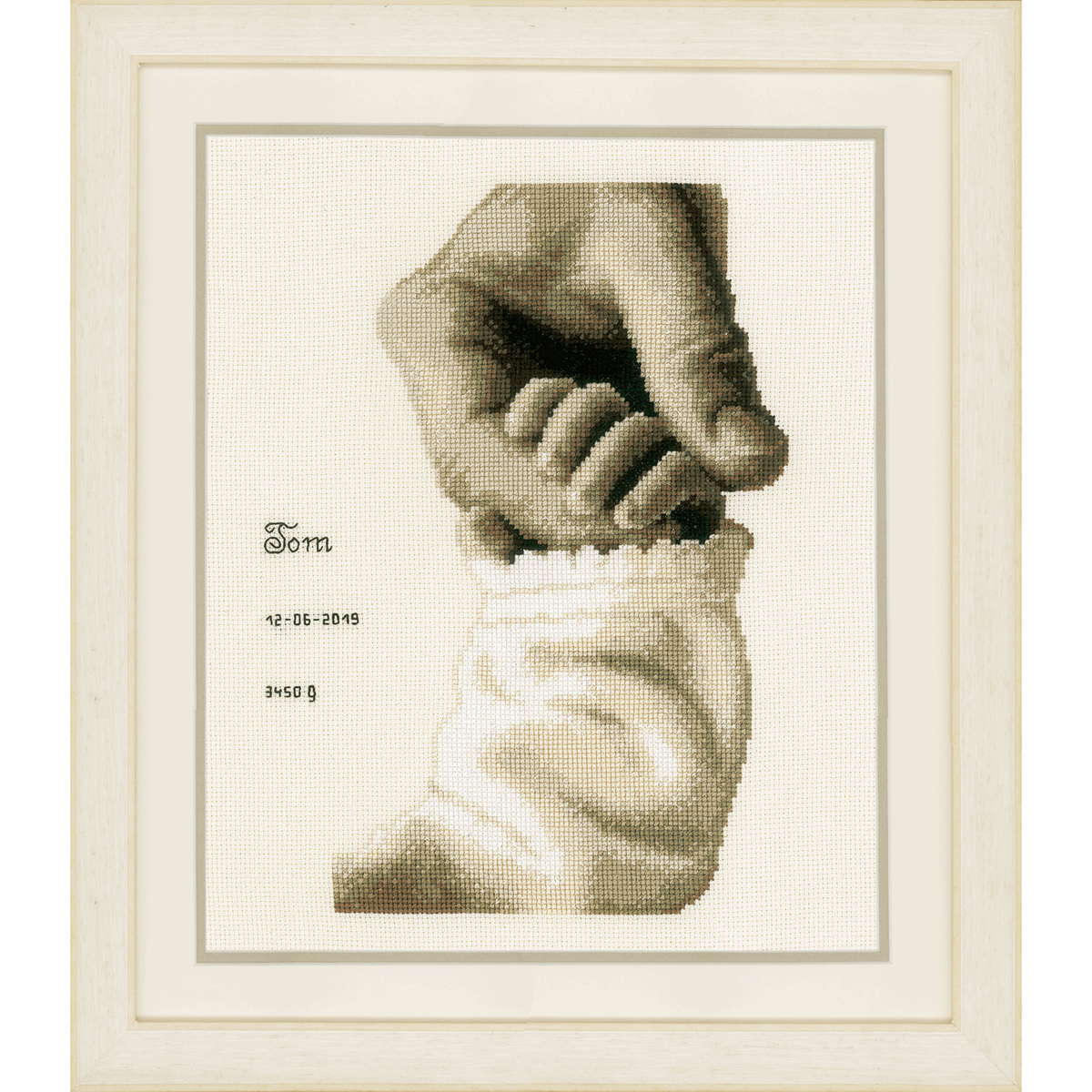 Picture of Counted Cross Stitch Kit: Baby Love