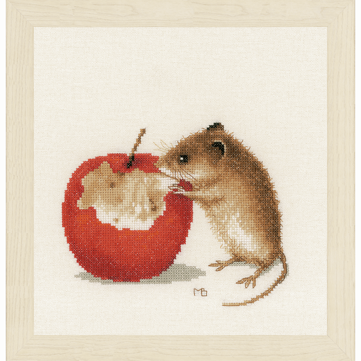 Picture of Counted Cross Stitch Kit: Little Mouse (Evenweave)