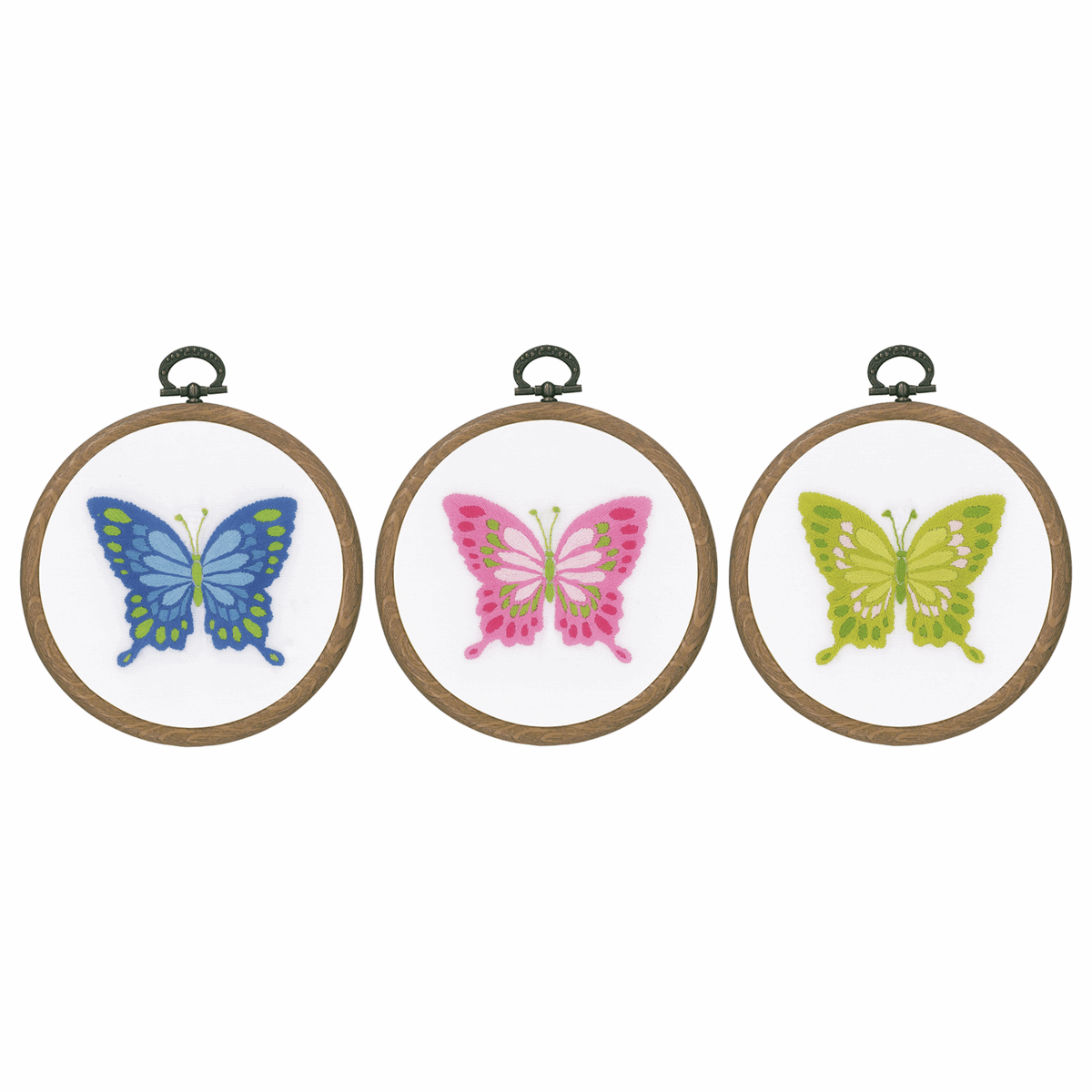 Picture of Embroidery Kit with Ring: Butterflies: Set of 3