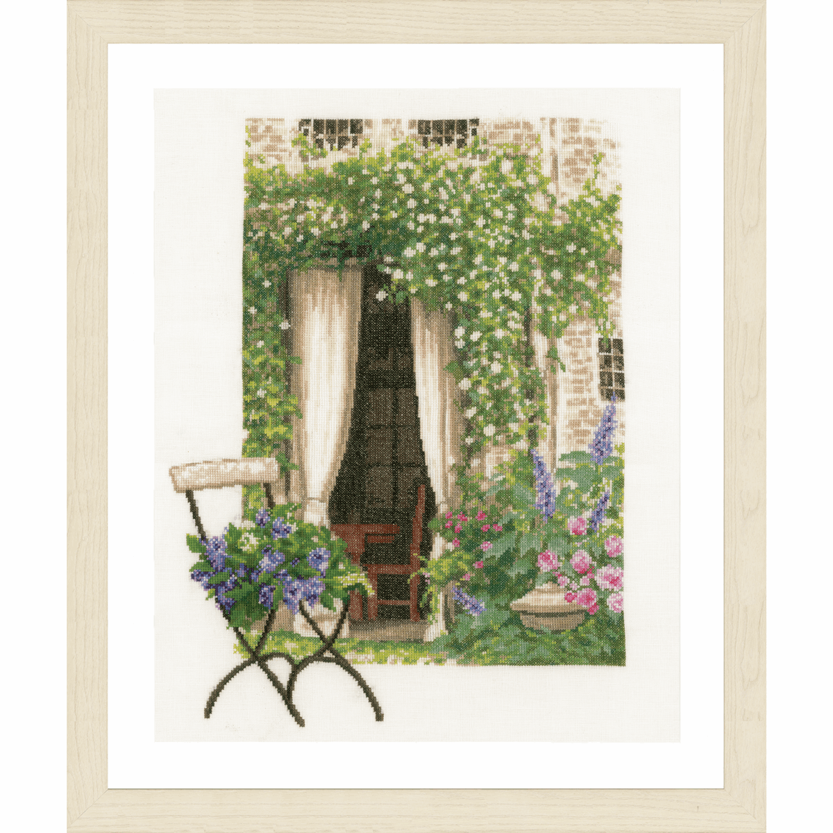 Picture of Counted Cross Stitch Kit: Our Garden View (Linen)