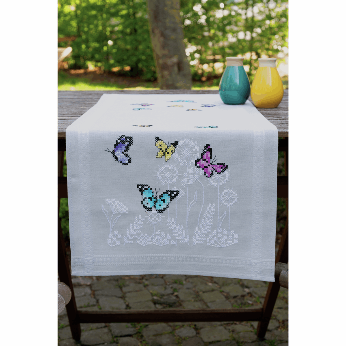 Picture of Embroidery Kit: Runner: Butterfly Dance