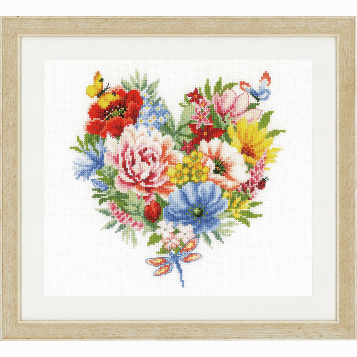 Picture of Counted Cross Stitch Kit: Heart of Flowers (Aida)