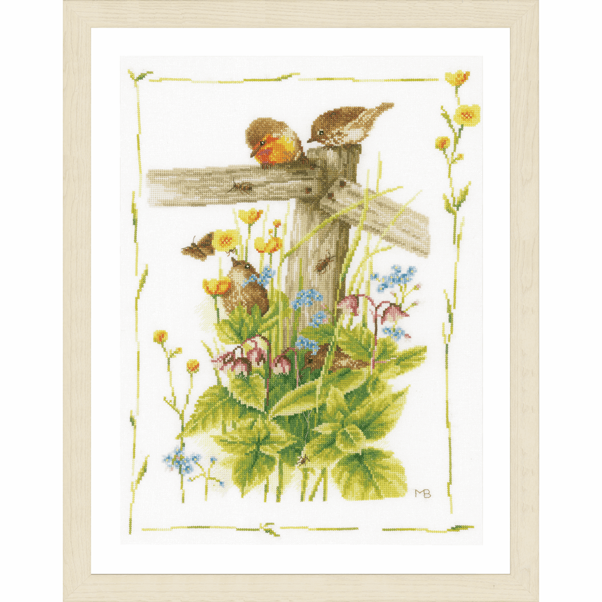 Picture of Counted Cross Stitch Kit: Cosy Garden Corner (Evenweave)