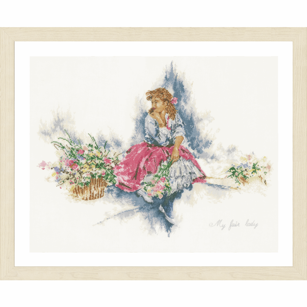 Picture of Counted Cross Stitch Kit: My Fair Lady (Linen)