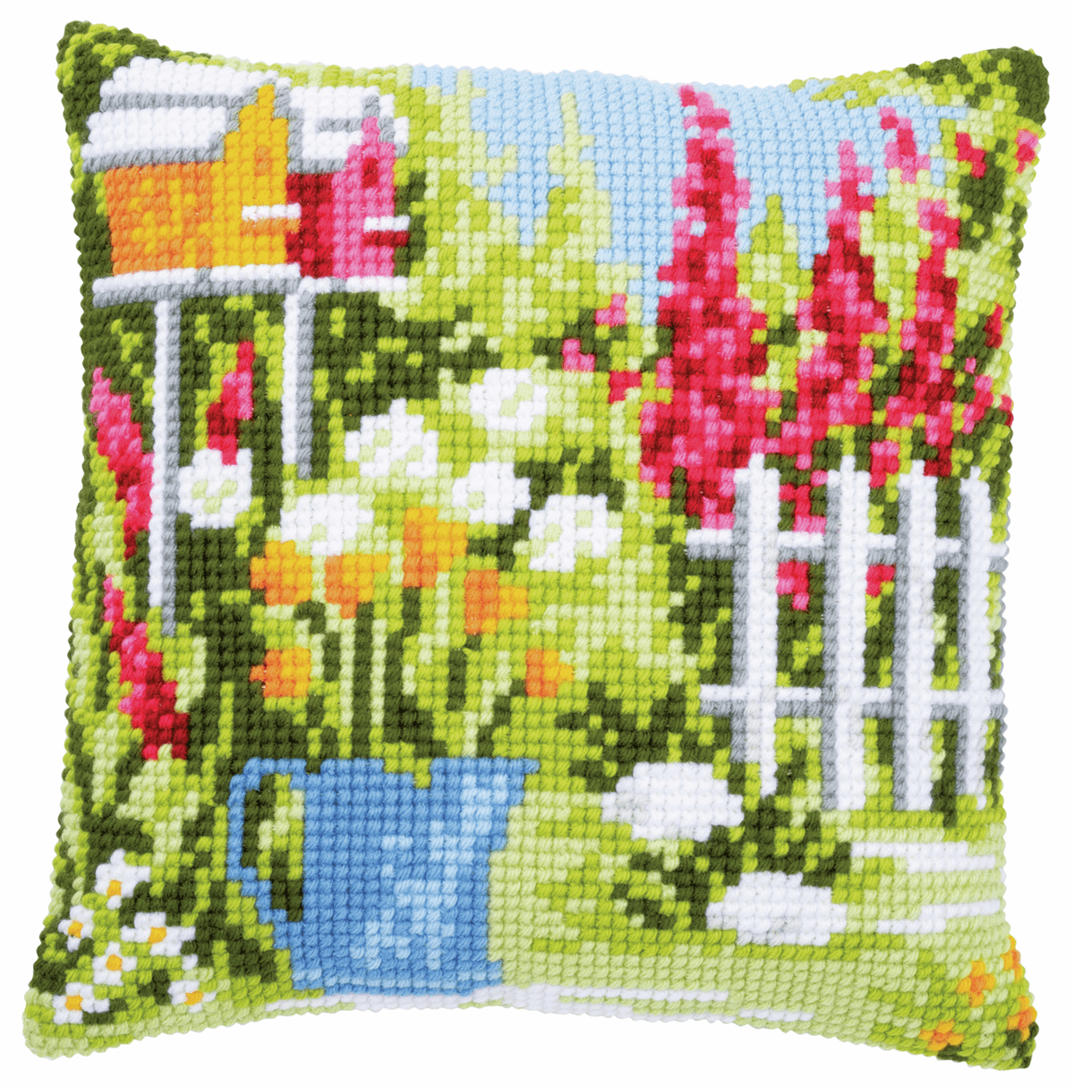 Picture of Cross Stitch Kit: Cushion: In My Garden