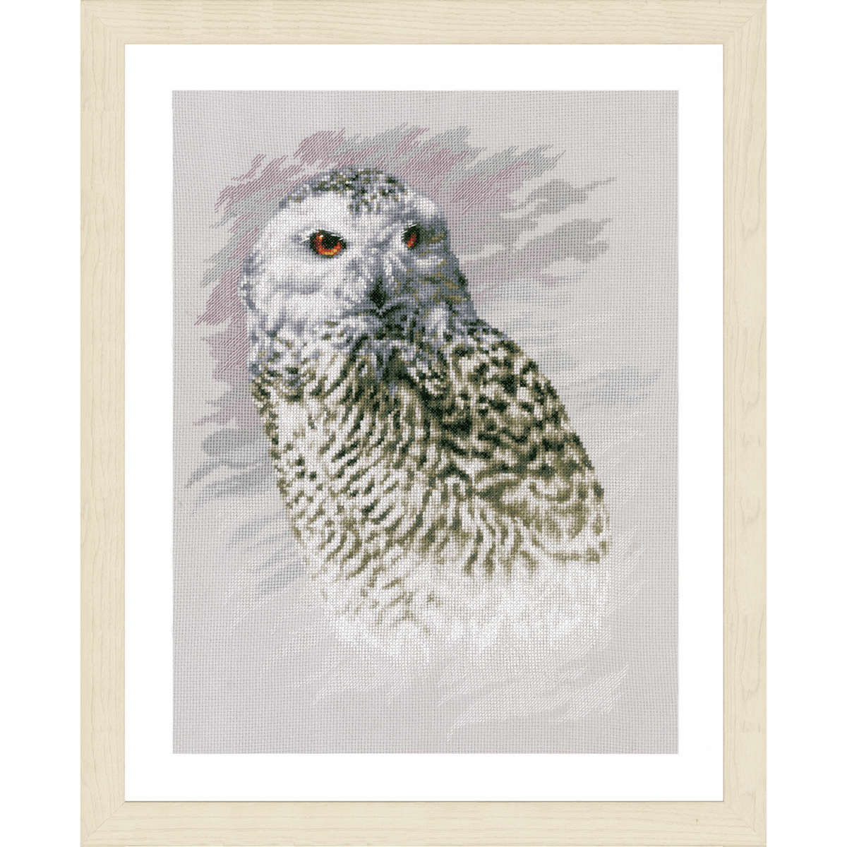 Picture of Counted Cross Stitch Kit: Snowy Owl (Aida)