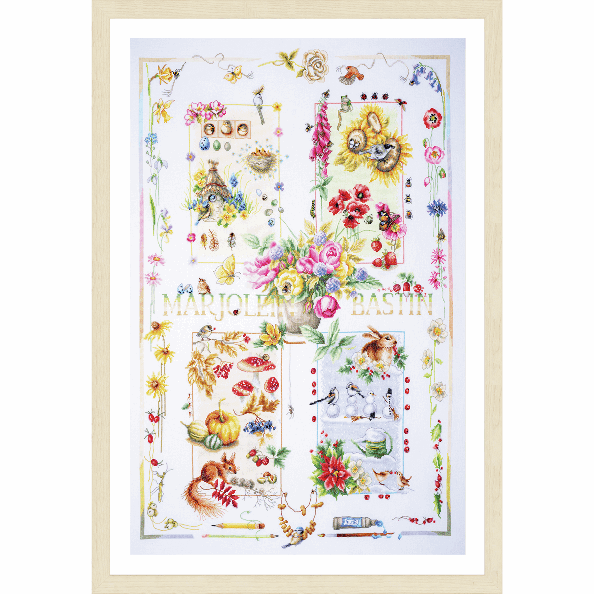 Picture of Counted Cross Stitch Kit: Four Seasons
