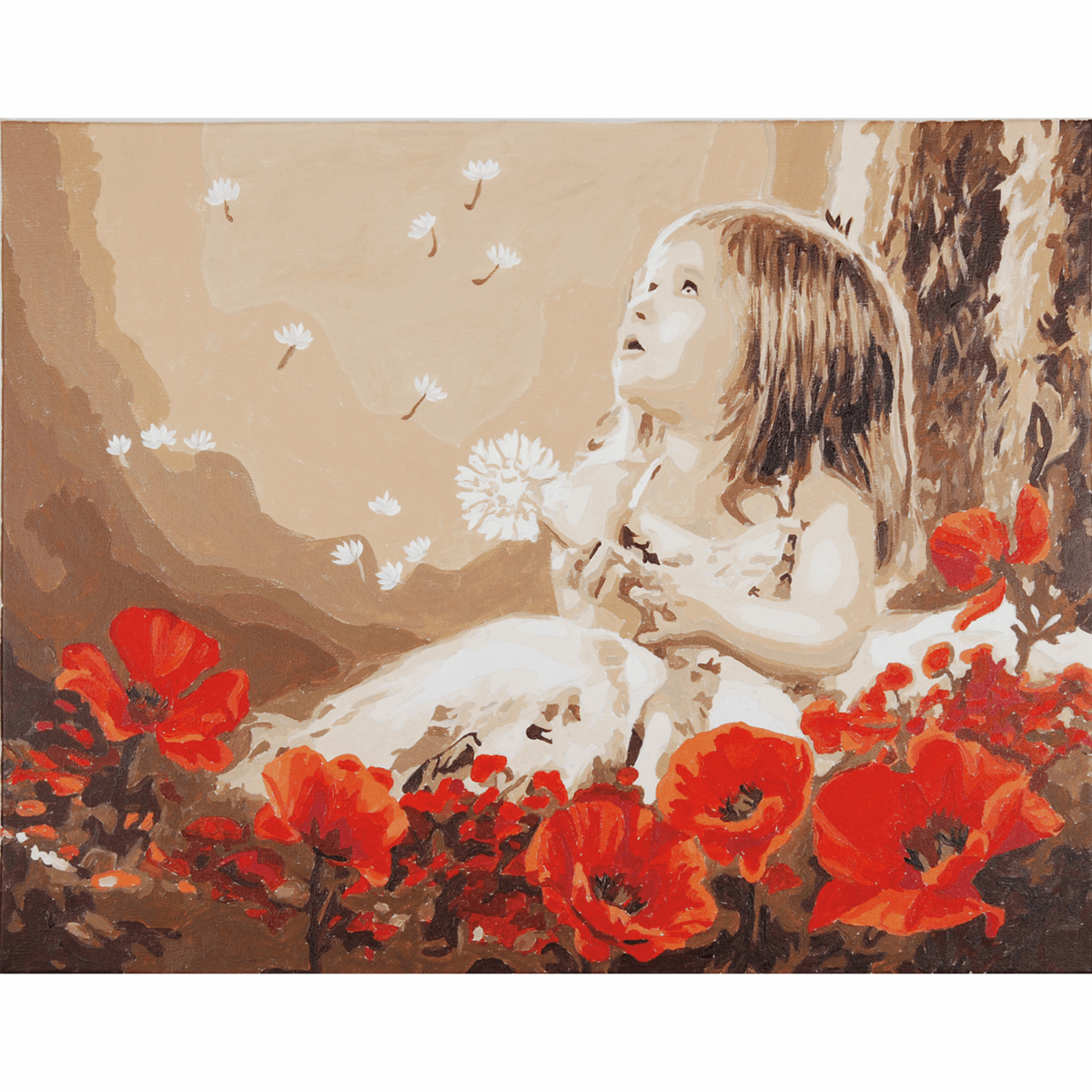 Picture of Paint By Number Kit: Girl in a Poppy Field
