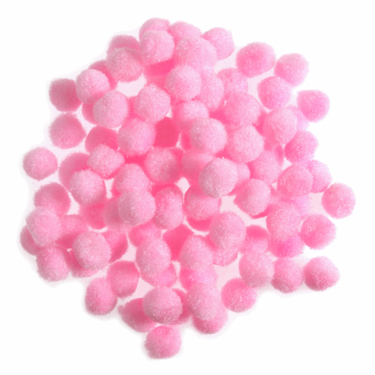 Picture of Pom Poms: 7mm: Pink: 100pk