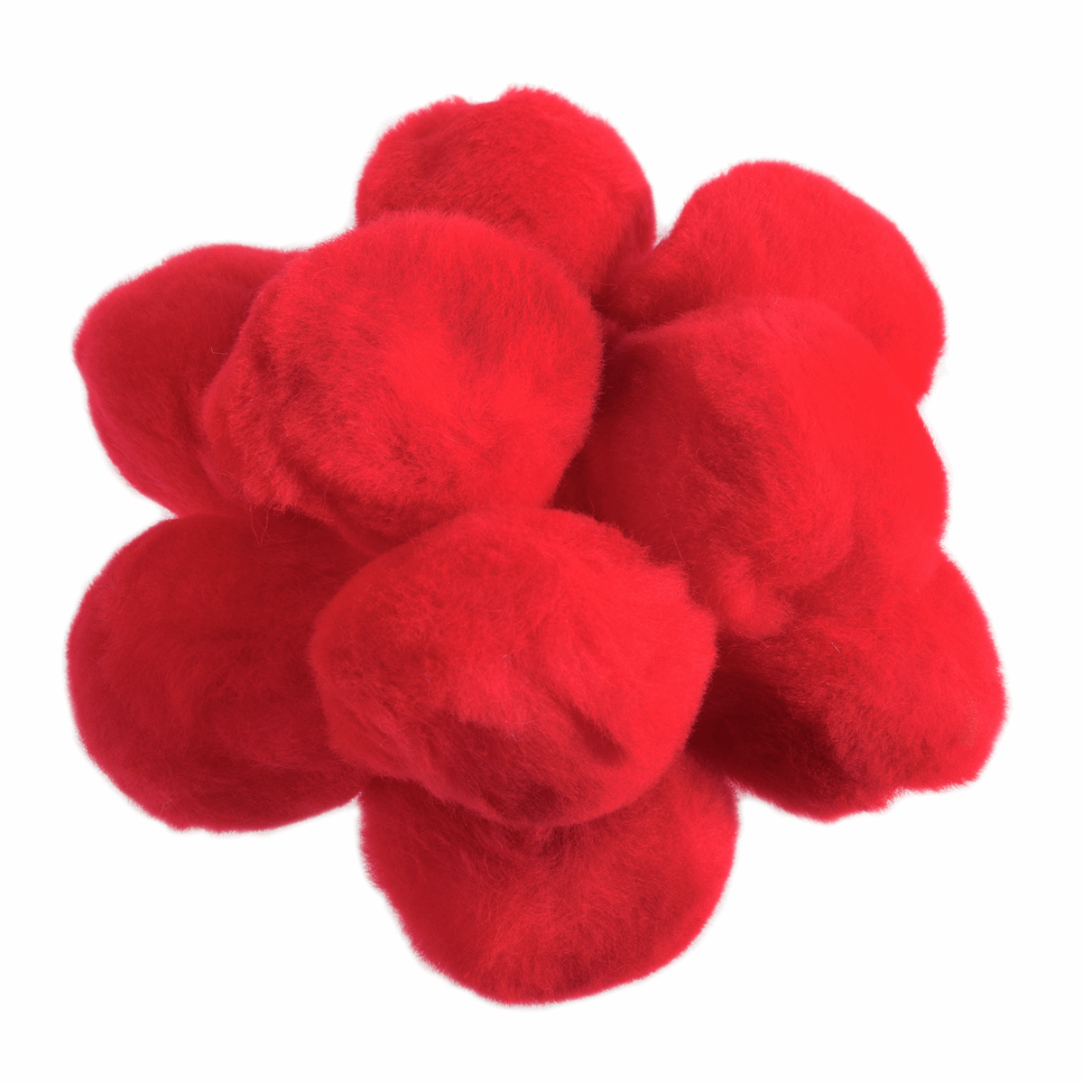 Picture of Pom Poms 50mm: Red: Pack of 25