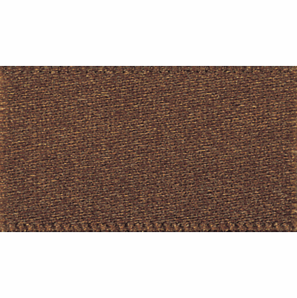 Picture of Newlife: Double Faced Satin: 20m x 10mm: Dark Brown