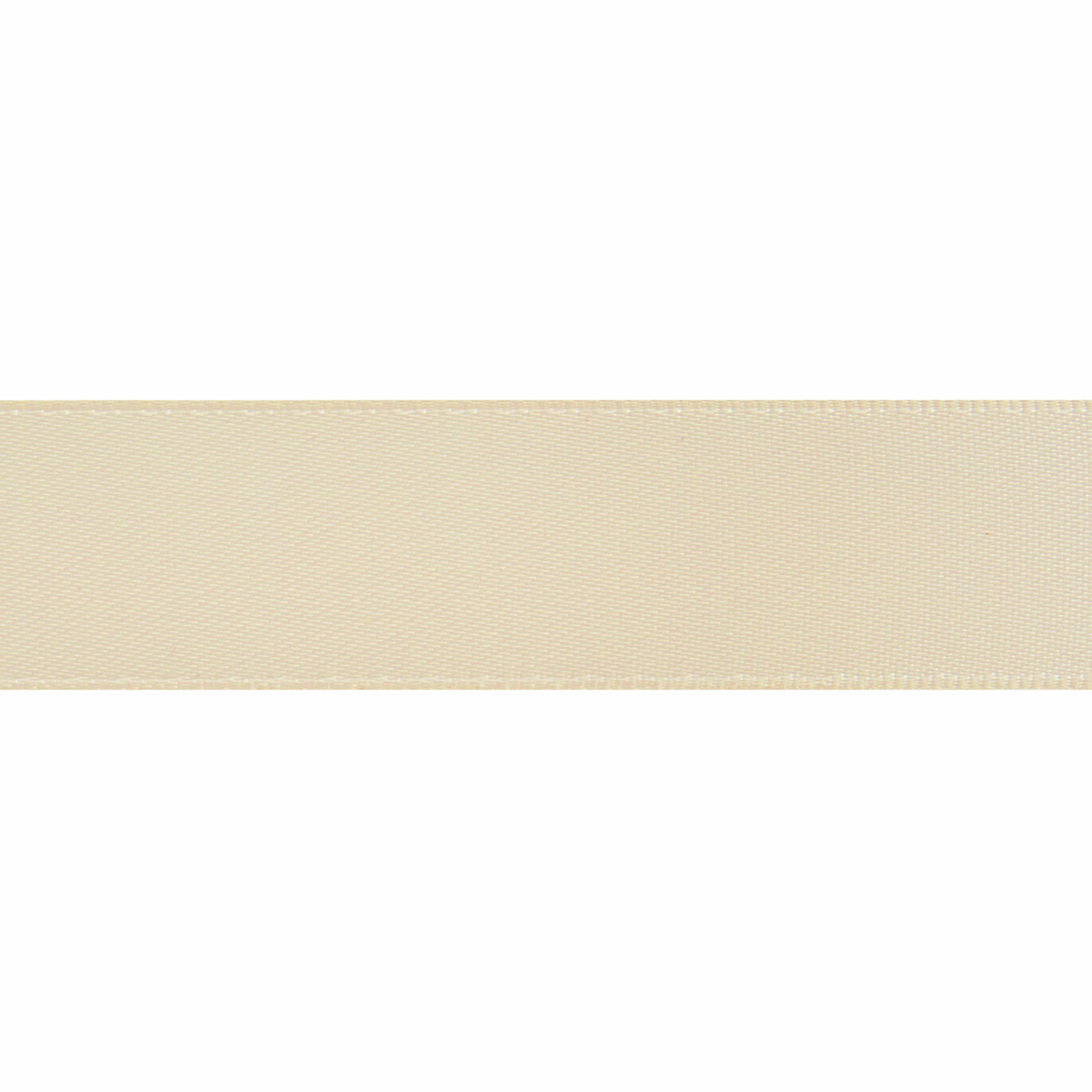 Picture of Double-Face Satin: 5m x 6mm: Cream