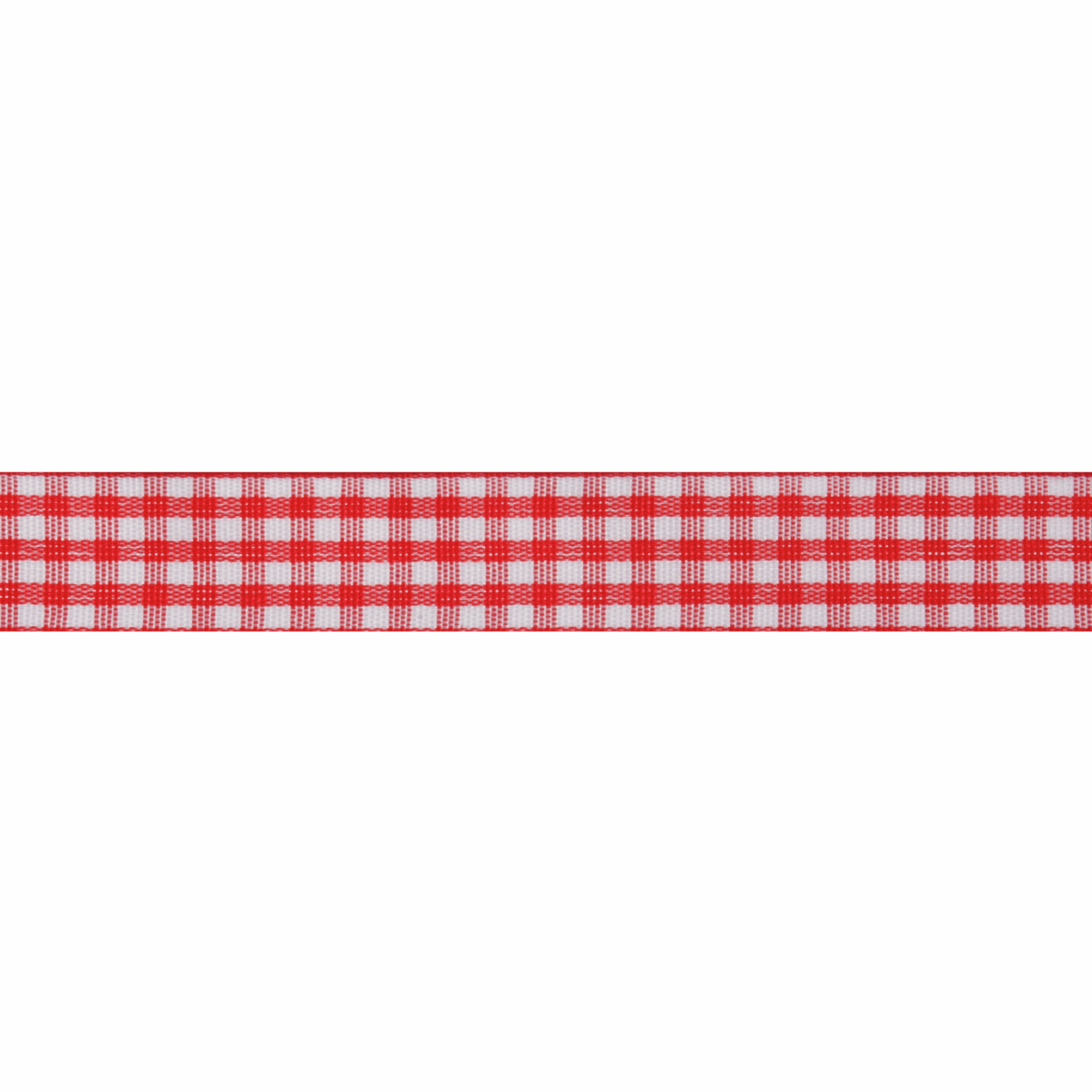 Picture of Gingham: 5m x 15mm: Red