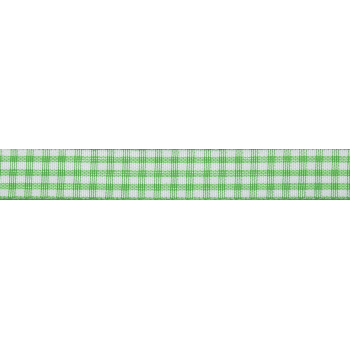Picture of Gingham: 5m x 15mm: Green