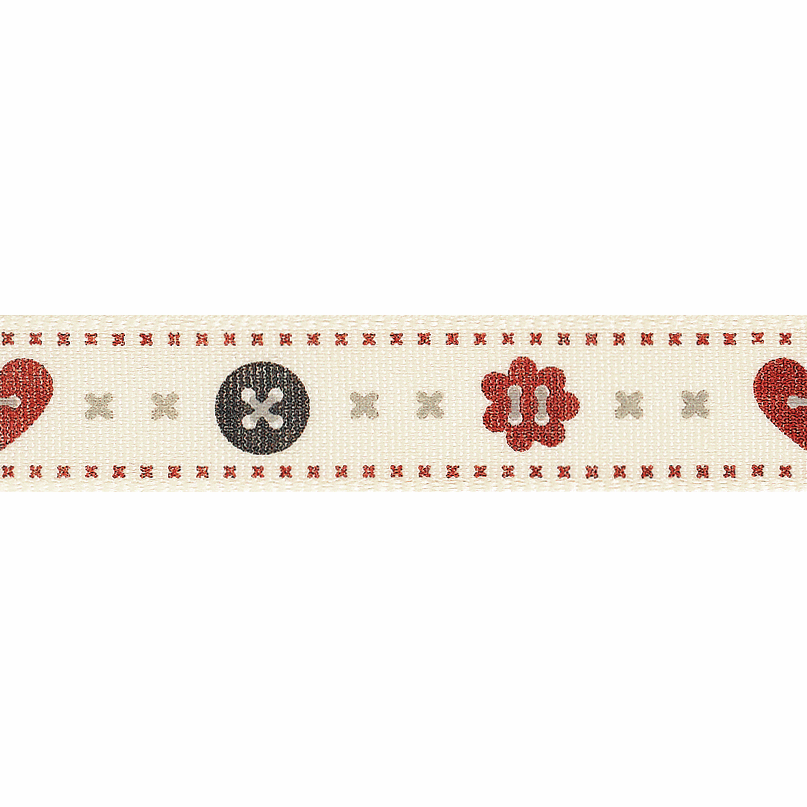 Picture of Buttons: 20m x 15mm: Red/Natural