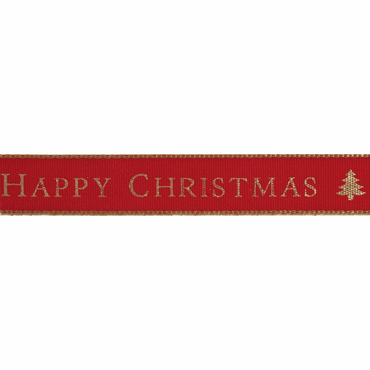 Picture of Happy Christmas: 15m x 15mm: Red