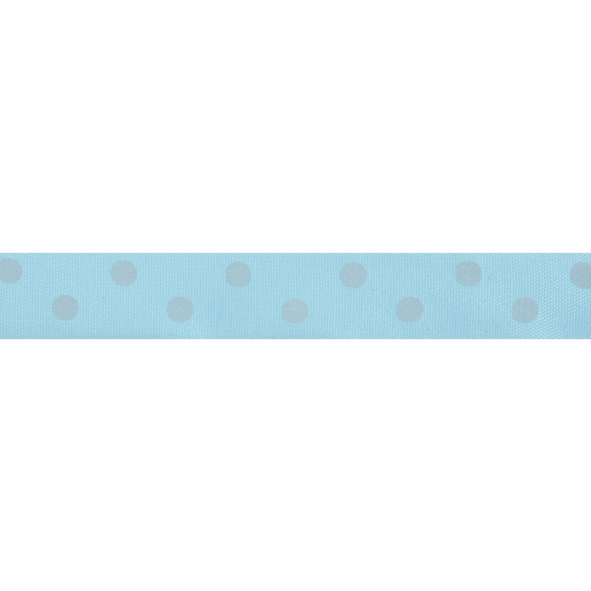 Picture of Satin: 5m x 15mm: Polka Dot: Light Blue