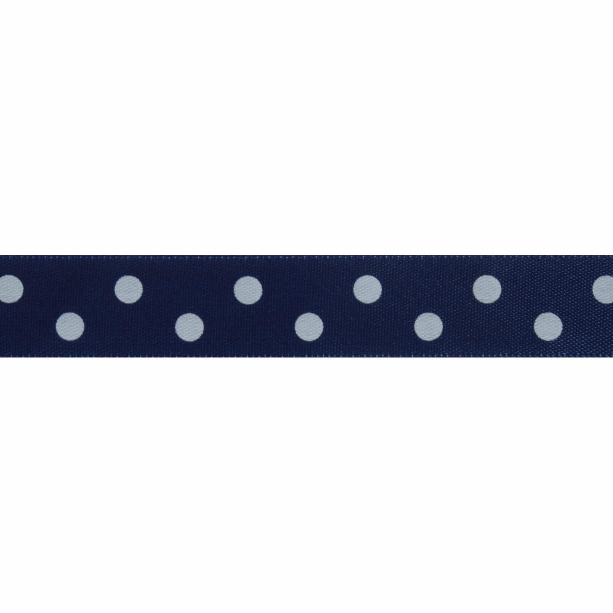 Picture of Satin: 5m x 15mm: Polka Dot: Navy