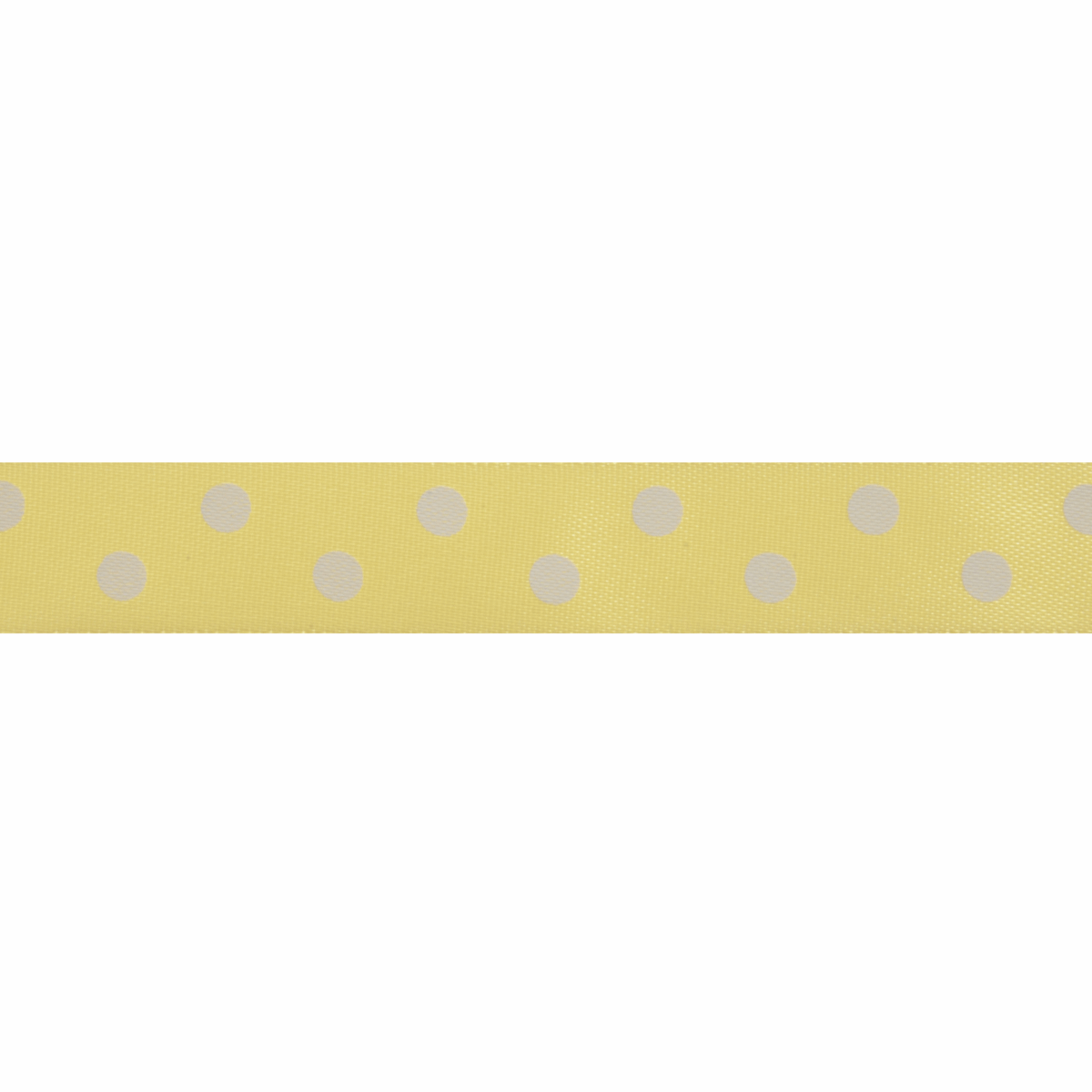 Picture of Satin: 5m x 15mm: Polka Dot: Yellow