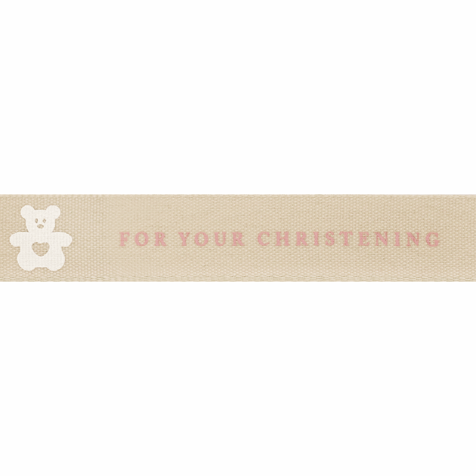Picture of For Your Christening: 20m x 15mm: Pink