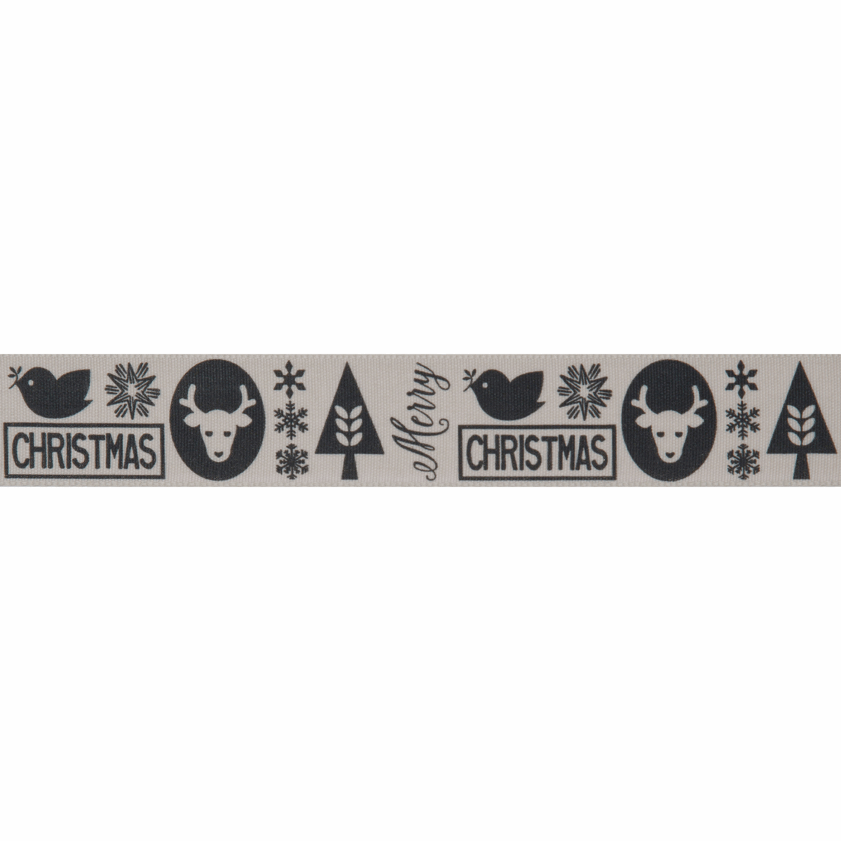 Picture of Christmas Motif: 20m x 25mm: Graphite