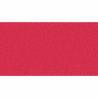 Picture of Double Faced Satin: 20m x 7mm: Poppy Red