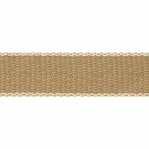 Picture of Hopsack: 15m x 25mm: Ivory