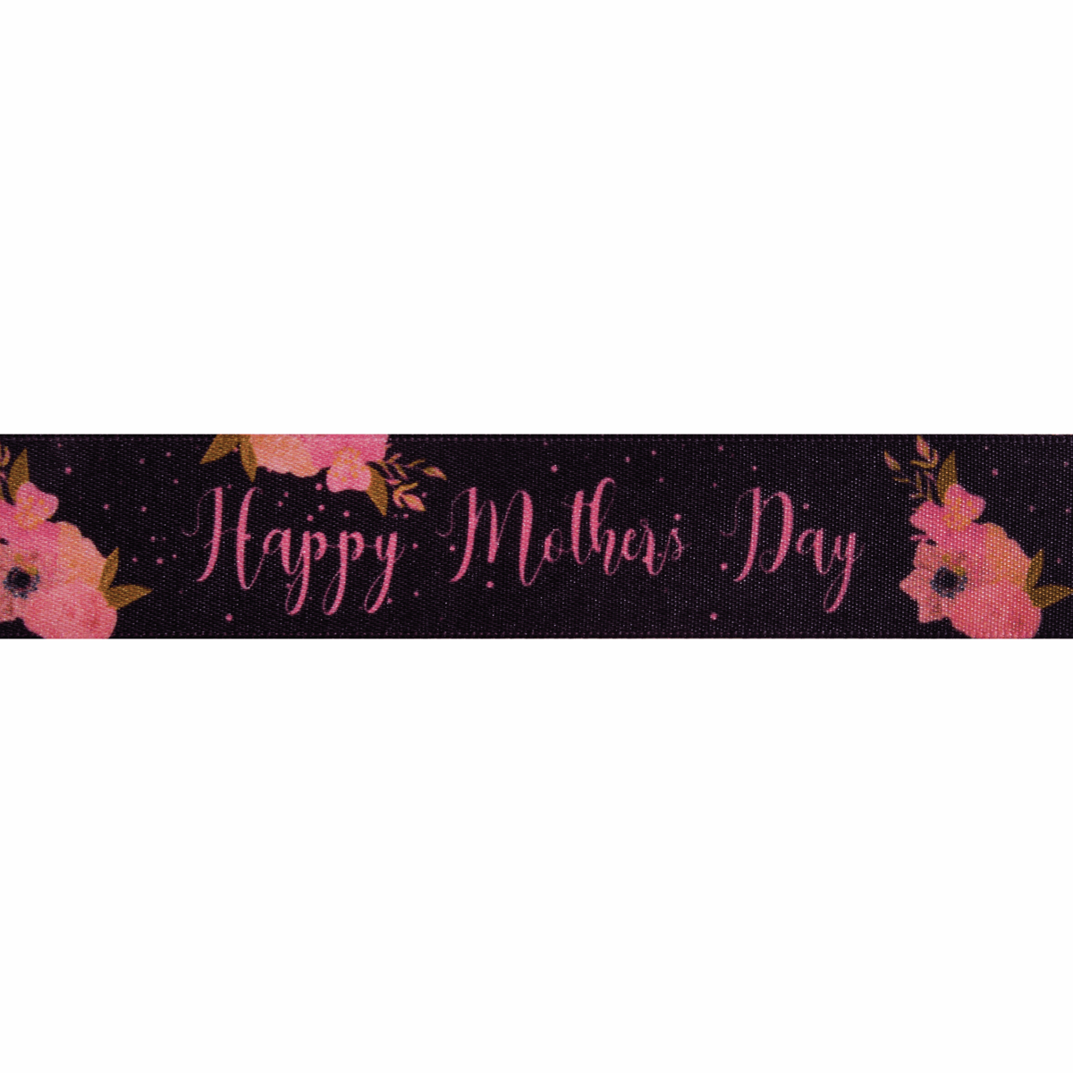 Picture of Happy Mother's Day: 20m x 25mm: Black
