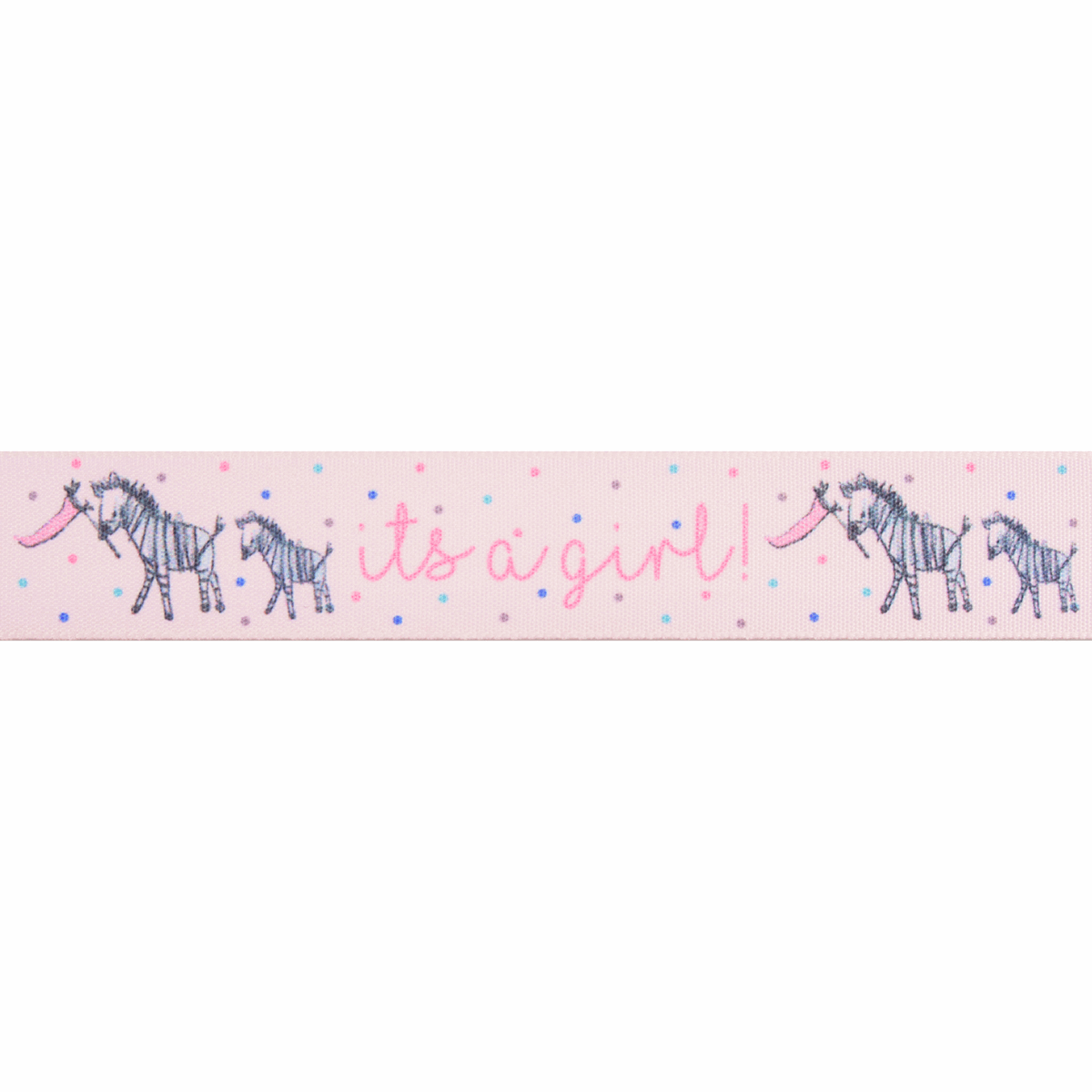Picture of It's a Girl: 25m x 25mm: Pale Pink